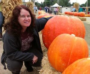 Lisa and orange friends, Halloween 2013