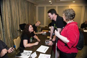 Lisa signing at the World Horror Convention in New Orleans, June 2013 (photo by Stacy Scranton-Morgan)
